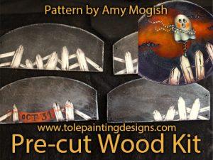 Mogish Halloween Painting Surface