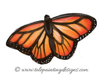 Monarch Butterfly Painting Pattern
