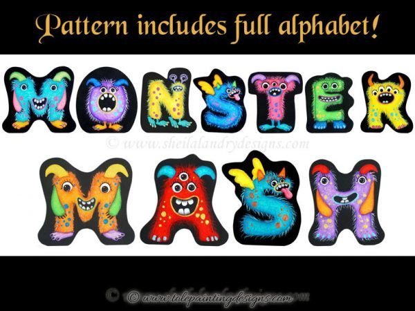 Monster Decorative Painting Pattern