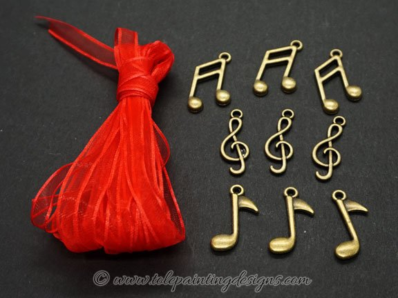 Musical Charms Craft Supplies