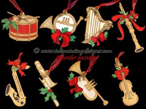 Musical Instrument Painting Pattern