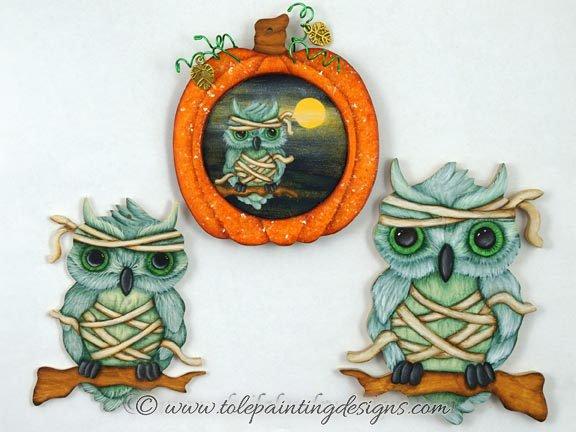 Owl Mummy Painting Pattern