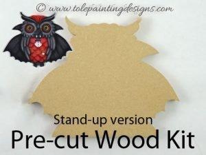 Owl Vampire Painting Surface
