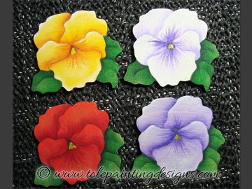 Pansy Decorative Painting Pattern