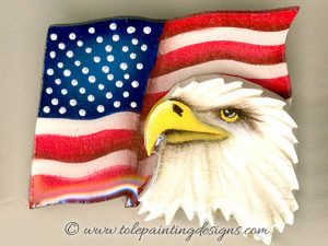 Patriotic Eagle Decorative Painting Pattern