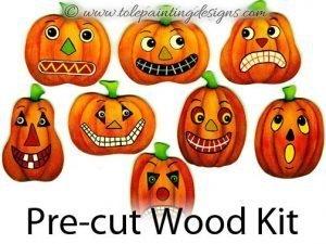 Prim Pumpkins Wood Painting Surface