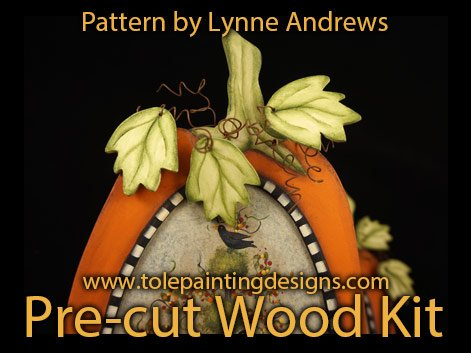 Pumpkin Tole Painting Wood Surface