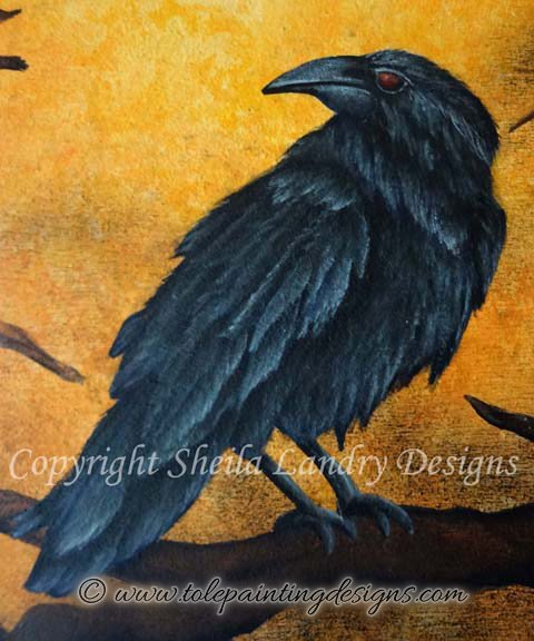 Raven Tole Painting Pattern