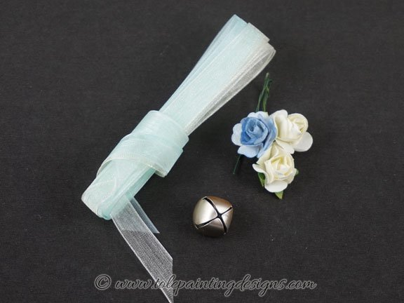 Ribbon Rose Charms