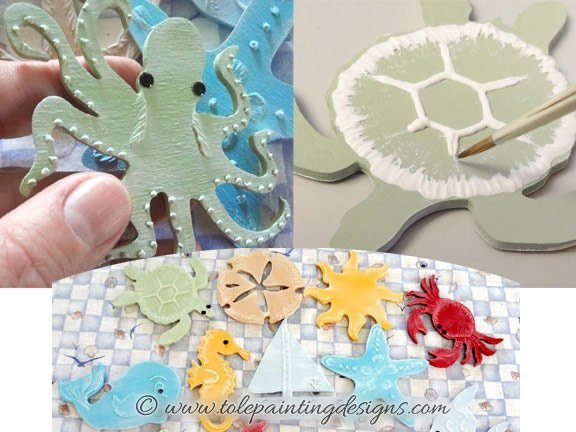 Sea Life Decorative Painting Pattern