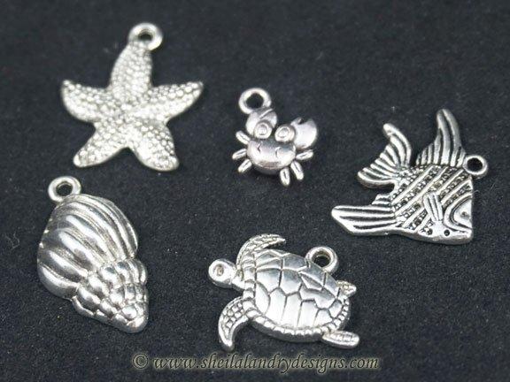 Sea Life Metal Charms