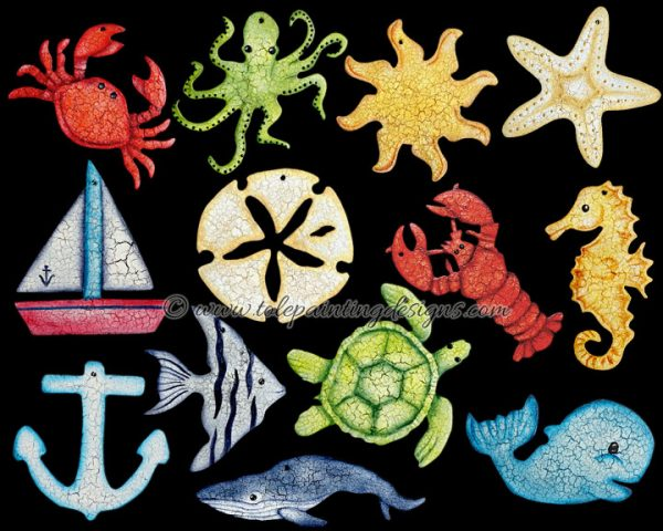 Sea Life Nautical Painting Pattern