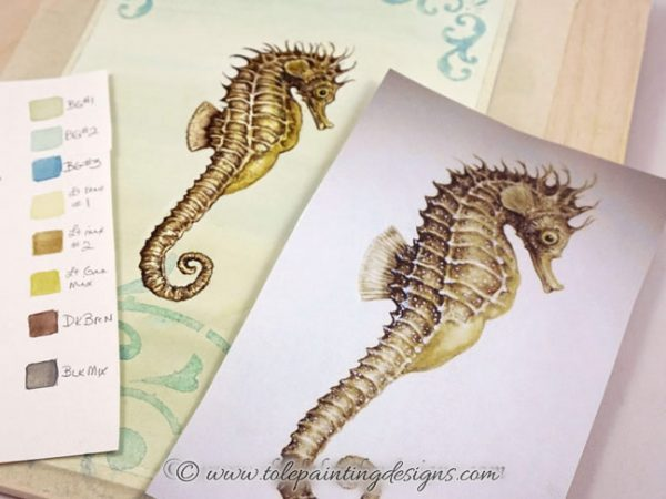 Seahorse Painting Pattern