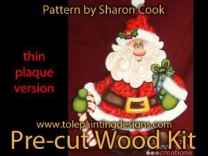 Sharon Cook Santa Wood Surface