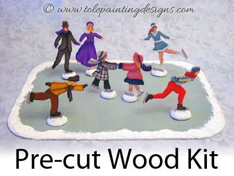 Skater Vignette Painting Surface