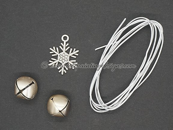Snowflake Bell Charms