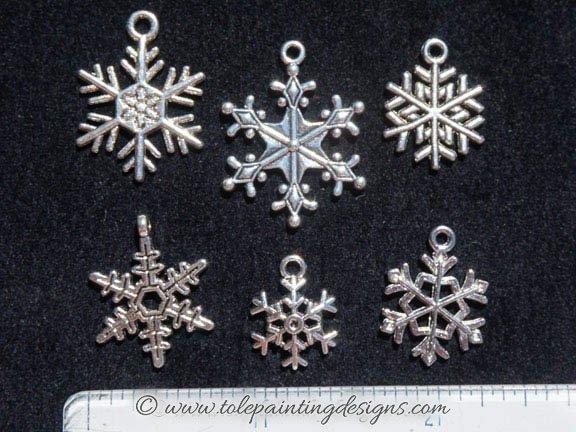 Snowflake Jewelry Charms