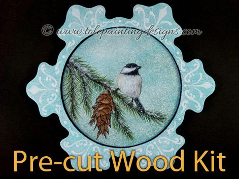 Snowflake Tray Wood Painting Surface