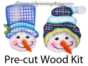 Snowman Ornament Painting Surface