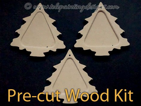 Tree Ornaments Tole Painting Surface