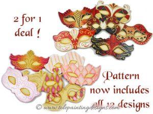 Valentine Masquerade Painting Pattern