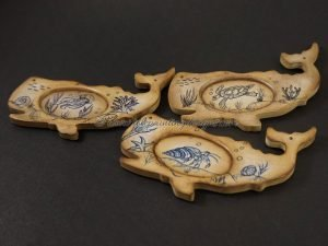 Whale Scrimshaw Painting Pattern