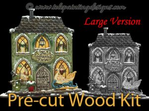 Winter Village Decorative Painting Surface