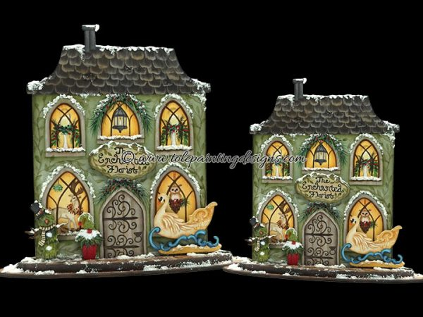 Winter Village Painting Pattern