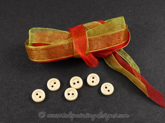 Wood Buttons Craft Supplies