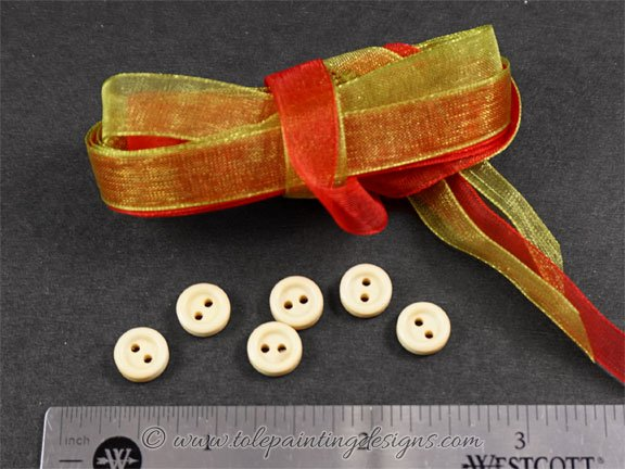 Wood Buttons Painting Supplies
