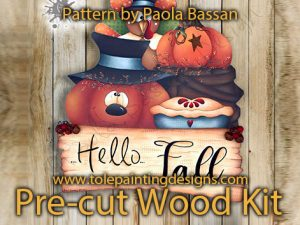 Fall Welcome Decorative Painting Pattern