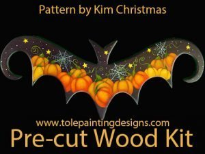 Halloween Bat Wood Surface