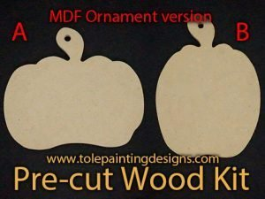Tole Painting Pumpkin Ornament