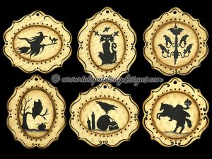 Halloween Silhouettes Painting Pattern